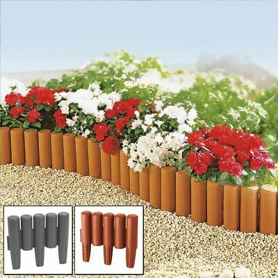 2.2m - 8.8m Palisade Lawn Edge Plant Border Path Garden Edging Fencing Plastic