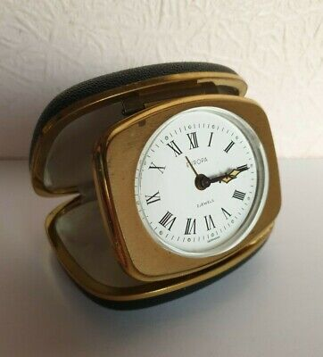 Vintage EUROPA 2 Jewels Travel Alarm Clock - Made in Germany