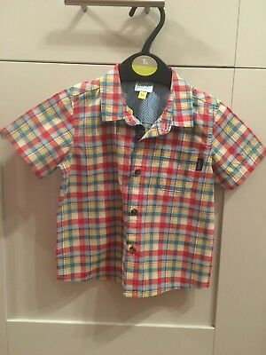 Ted Baker Baby Boy Short Sleeve Casual Checked Shirt - 9-12 Months