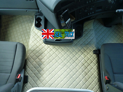 Truck Eco Leather Floor Set Fit Scania R Streamline Automatic 2013-2017 Beige