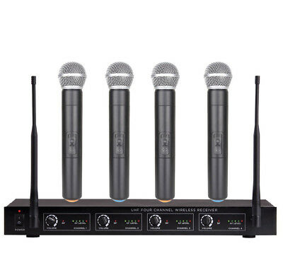 4 Channel Wireless Microphone Mike System for Shure Wireless 4 Handheld Mics