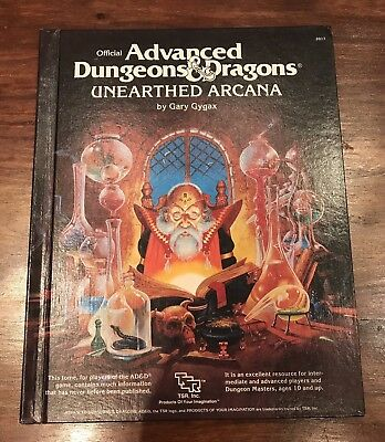 AD&D Unearthed Arcana TSR Dungeons & Dragons