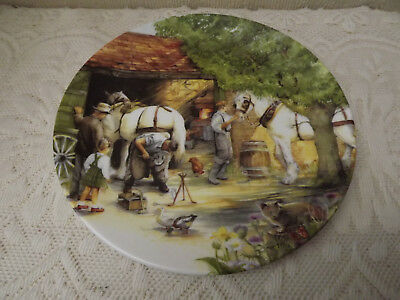 """Royal Doulton - """"The Blacksmith"""" plate - 1990 - from series Old Country Crafts"""