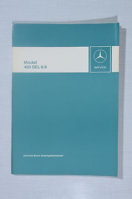 Mercedes-Benz 450SEL 6.9 Introduction into Service Manual