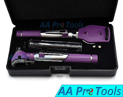 NEW FIBER OPTIC Otoscope Ophthalmoscope Examination LED Diagnostic ENT Purple