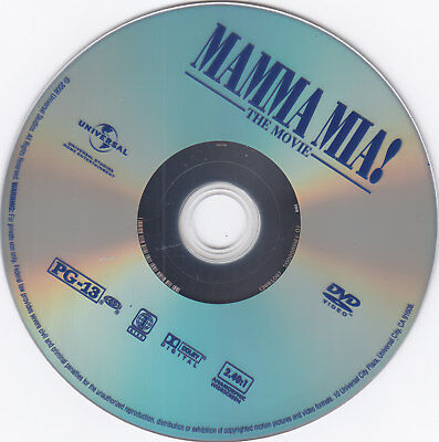 Mamma Mia The Movie  DVD Disc only  free shipping Meryl Streep (first MM)