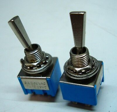 Toggle Switch Wide Chrome Baton Mini  DPDT various options!!!