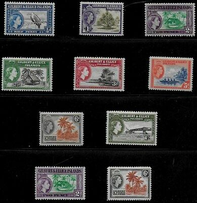 Gilbert and Ellice Islands 1956 & 1964 QEII Pictorials - MH