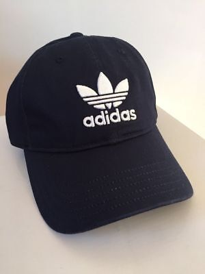 Adidas Trefoil Classic Baseball Cap Embroidered Logo Men Hat Navy Blue CD6973