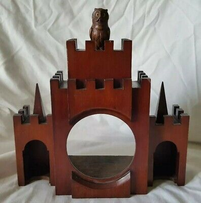 Vintage Treen Model Castle Clock Holder