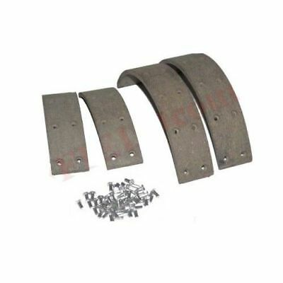 """Brake Shoe Pad Lining Kit Set With Rivets Willys Jeep Tractor 10"""" GEc"""
