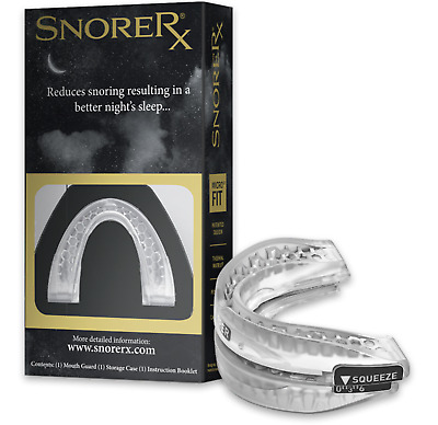 SnoreRx Anti-Snore RX Mouth Guard Stop Snoring Sleep Quiet and Better NEW/SEALED