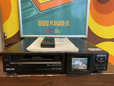 Philips VR6880 LCD Monitor VHS Recorder + Manual & Remote