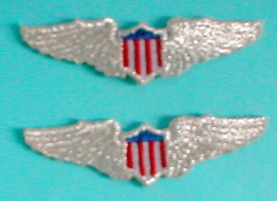 PILOTS WINGS Aviation Airplane Aircraft Emblem Metallic Silver Patch Applique