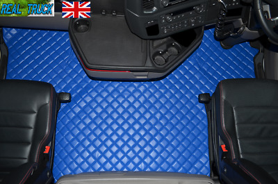 Scania S Series New Generation [ 2017 + ] Truck Eco Leather Floor Set -Blue