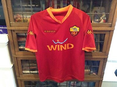 0e05915a7 AS Roma ASR Kappa Patched Soccer Futbol Jersey Shirt WIND SZ M - Cool