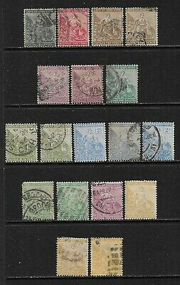 SOUTH AFRICA CAPE OF GOOD HOPE 1894-98 Mint and Used Issues Wmk Anchor (Jan 076)