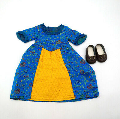 Fit For 18'' American Girl Outfit Doll Felicity's BeForever New Meet Dress/Shoes
