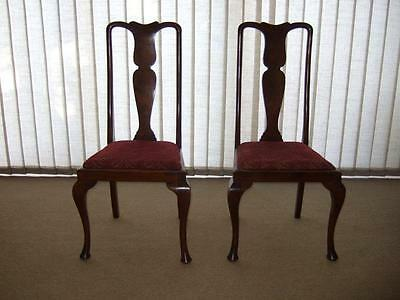Pair of antique mahogany chairs,spoonback(?), c.100 years old, heirloom, unusual