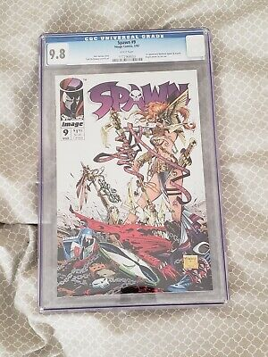 Spawn #9 CGC 9.8 - 1st appearance of Medieval Spawn & Angela - Hot!!