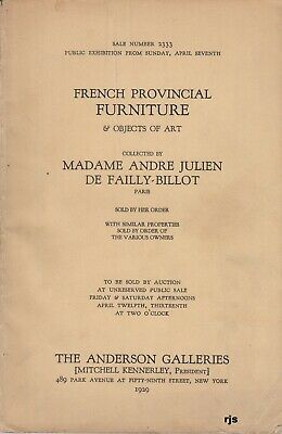 Madame Andre Julian De Failly-Billot French Provincial Furniture + New York 1929