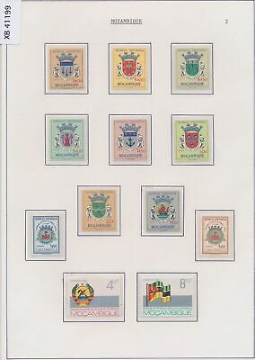 XB41199 Mozambique crown coat of arms shields heraldry fine lot MNH