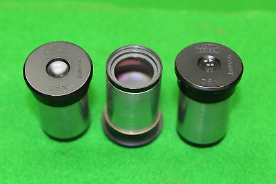 3 x Carl Zeiss C8x Microscope Eyepieces Lens Laboratory Lab Equipment