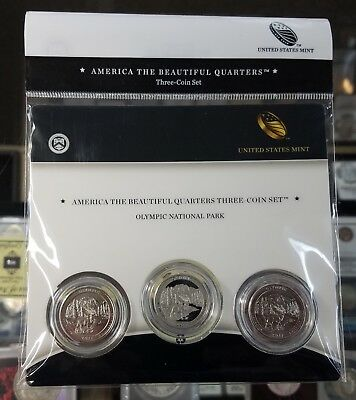 2011 Olympic National Park ATB 3-coin set National Forest US Mint quarters Set