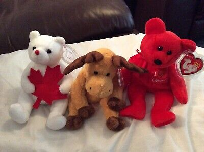 "TY Beanie Babies NORTHLAND  DOMINION and  CANADA 8""(20cm) retired"
