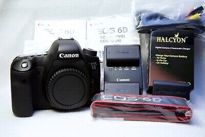Canon EOS 6D 20.2MP Digital SLR Camera Body excellent, low shutter, +EXTRAS