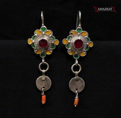 Old Berber Earrings - Tiznit Region, South Morocco
