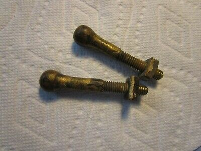 """2 Antique [2-3/4""""] Solid Brass Door Knocker Mounting Bolts~~Hard To Find!!!!"""