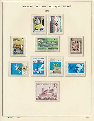 XB41288 Belgium 1978 nice lot of good stamps MNH fv 89 BEF