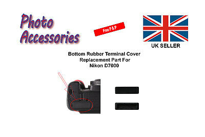 Bottom Rubber Terminal Cap Cover Replacement Part For Nikon D7000 Camera