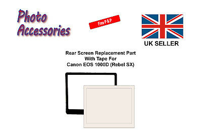 Rear Screen Replacement Part with Tape for Canon EOS 1000D (Rebel SX)