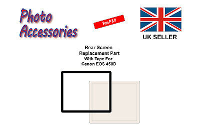 Rear Screen Replacement Part with Tape For Canon 450D