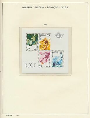 XB41298 Belgium 1982 sports good sheet MNH fv 100 BEF