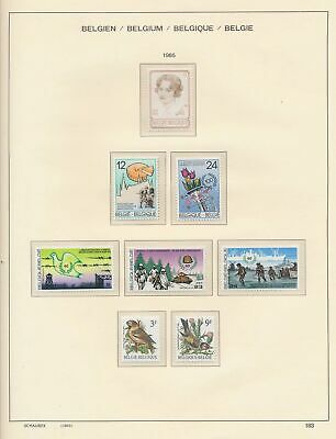 XB41311 Belgium 1985 nice lot of good stamps MNH fv 116 BEF