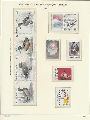 XB41331 Belgium 1989 nice lot of good stamps MNH fv 124 BEF