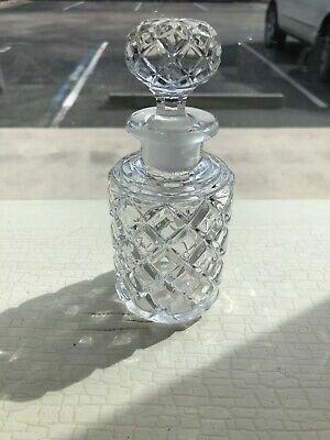 Vintage Crystal Bottle With Crystal Stopper.