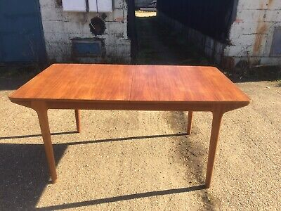 Vintage Mid Century AH McIntosh Teak Double Extending Dining Table Retro G Plan