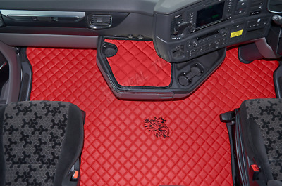 Scania S Series New Generation [ 2017 + ] Truck Eco Leather Floor Set -Red