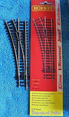 Hornby  Oo Gauge Track R 8072 New In Pack Left Hand Standard Point