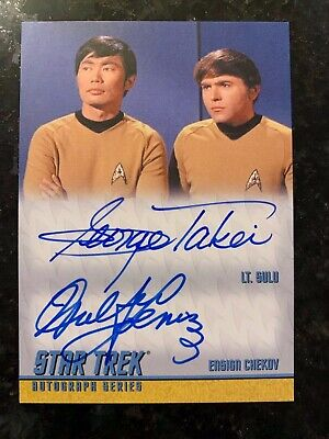 Star Trek Remastered George Takei and Walter Koenig DA13 Dual Autograph Card