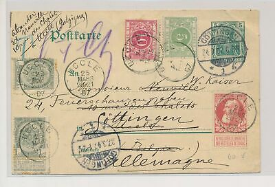LJ54731 Belgium 1907 good postcard with nice cancels used