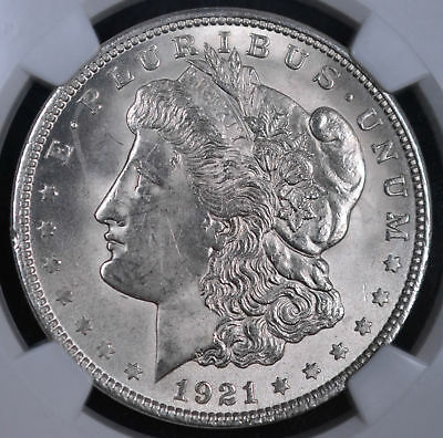 1921 $1 Morgan Silver Dollar - NGC MS 62 3614625-097