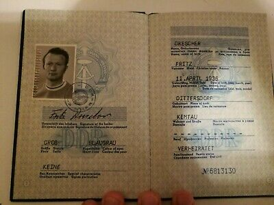East German DDR GDR Passport Reisepass Travel Document - In Mint Condition