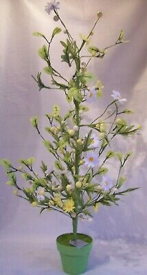 Speckled Egg & Daisy 70cm Tall Easter Tree Potted Plant Decoration Gisela Graham