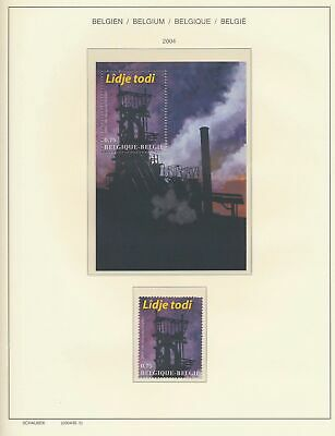 XB41486 Belgium 2004 mine industry good sheet MNH fv 1,5 EUR