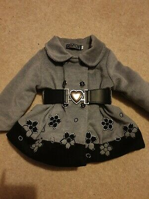 Spanish style Baby Girls belted Coat 6-12 Months really cute